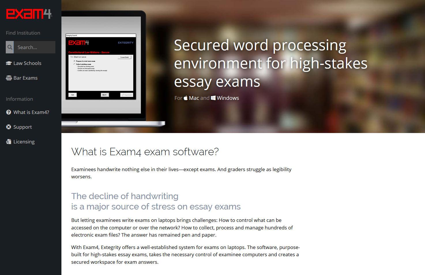 Screenshot of exam4.com