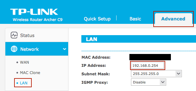 Awesome Toast! | Configure TP-LINK Archer C9 (or C7, C8) for