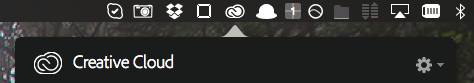 Adobe Creative Cloud menu bar icon