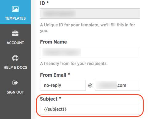 Setting dynamic subject lines in SparkPost templates